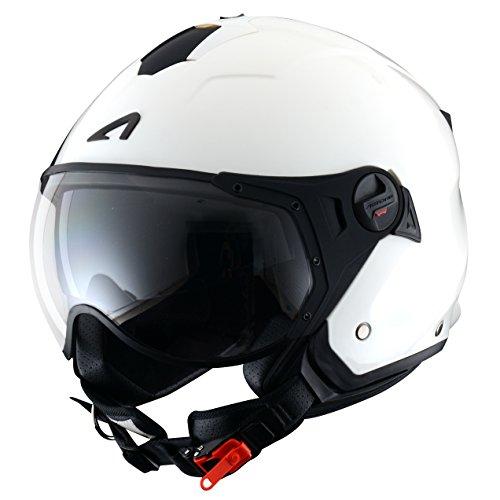 Astone Helmets Casco Jet Sport Mini, color Gloss Blanco, talla M