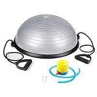 Sillas con balón de ejercicio Bola de Yoga Bola Desmontable de Fitness Bola de Entrenamiento de Equilibrio semiesférico Bola de Velocidad de Ola Entrenador de Fuerza Puede soportar 150 kg
