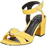 New Look Damen Wide Foot Tuckle Peeptoe Pumps, Gelb (Dark Yellow 87), 38 EU