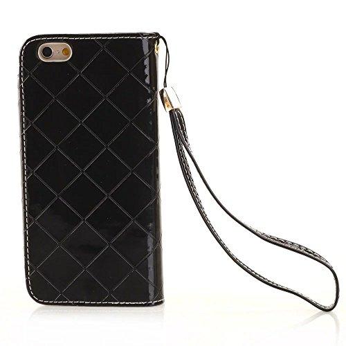Wkae Case Cover iPhone Case 7, Case strass avec poignet à la main, étui en cuir magnétique Couverture Wallet Case PU pour Apple iPhone 7 by DIEBELLEU ( Color : 6 , Size : Iphone7 ) 2