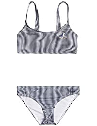 Roxy Early Conjunto De Bikini Bralette para Chicas 8-16 Conjunto De Bikini Bralette, Niñas, Mood Indigo Vogia S, 14