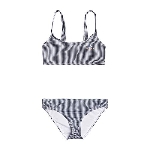 Roxy Early Conjunto De Bikini Bralette para Chicas 8-16, Niñas, Mood Indigo vogia s, 14