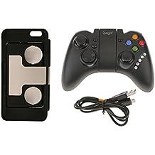 P Prettyia Caja Sin Hilos del Teléfono De Los Vidrios del Gamepad + 3D De Los Controles del para El Teléfono