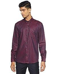Indigo Nation Men's Solid Slim Fit Formal Shirt