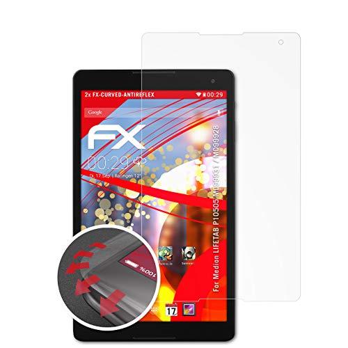 atFolix Schutzfolie passend für Medion LIFETAB P10505 MD99931 / MD99928 Folie, entspiegelnde & Flexible FX Bildschirmschutzfolie (2X)