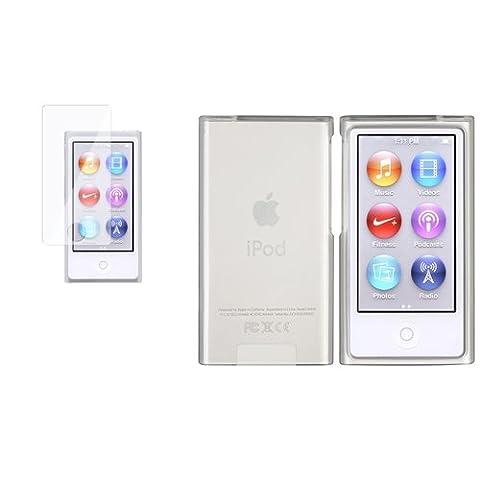ee Transparent Blanc Housse Coque + Protecteur Pour Apple iPod Nano 7 7th 7G