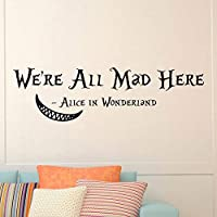 Handaxian Wall Decals Quotes Cheshire Cat Quote We