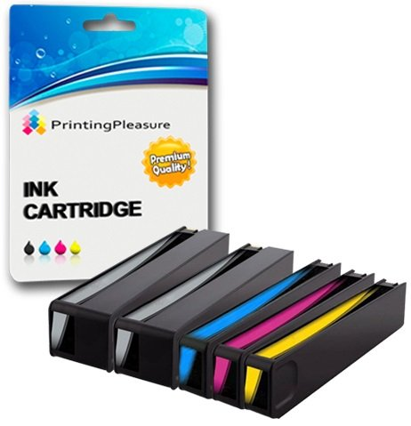 Printing Pleasure 5 XL Druckerpatronen für HP PageWide 352dw, 352dn, 377dw, 377dn, Pro 452dw, 452dwt, 452dn, 477dw, 477dwt, 477dn | Ersatz für HP 913A (L0R95AE, F6T77AE, F6T78AE, F6T79AE)