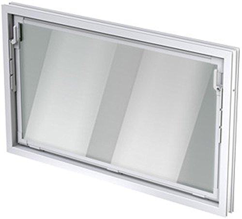 ACO Nebenraumfenster + Kippflügel Einfachglas weiß 100cm Baubreite untersch. Höhen, Größe Kippfenster:100 x 80 cm