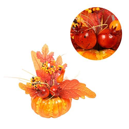 Holibanna 3 stücke halloween künstliche sonne blume ahornblatt dekor kürbis fotografie dekorative hause herbst dekorative requisiten (jedes stück für ein muster) -