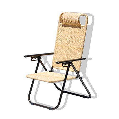 la plage de rotin président, creative multifonctions bureau exerce chaise longue sieste président balcon extérieur chaise pliante (taille : 48 * 70 * 106CM)