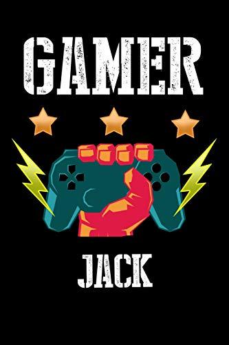 Gamer Jack: Kariertes Notizbuch mit 5x5 Karomuster für deinen personalisierten Vornamen (Namens Mädchen Jack)