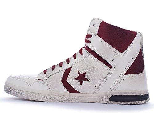 Converse - Weapon Hi, Sneaker alte Uomo Bianco/Bordeaux