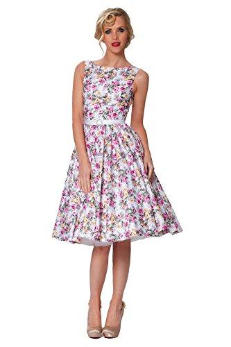 SEXYHER Noble Vintage Stil Audrey Hepburn 1950 Rockabilly Swing Abend Blumen Kleid - RBJ1405 Bi-color