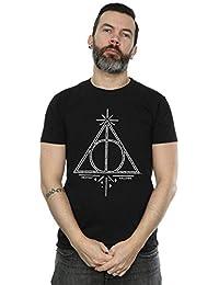 Harry Potter Hombre Deathly Hallows Symbol Camiseta