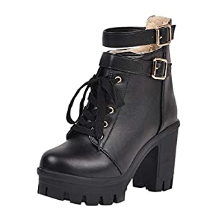 🔷 Love letters 🔷 Winter Boots Women Fashion High Heel Lace Up Ankle Boots Ladies Buckle Platform Shoes High Heels Boots