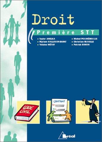 Droit : Classe de première STT par Collectif