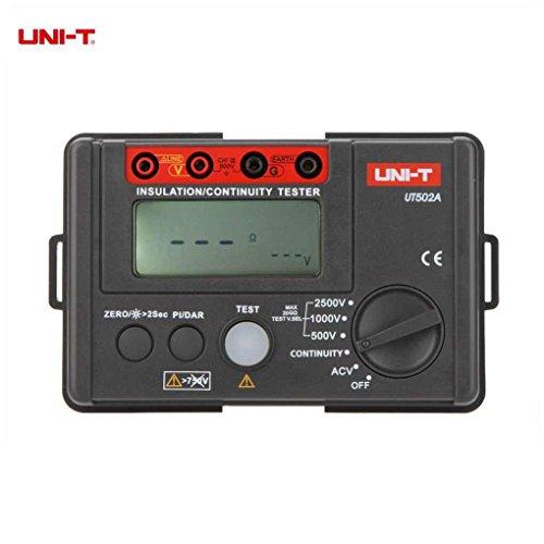heacker Uni-T UT502A 2500V Digitales Isolationsmessgerät Tester Megohmmeter Voltmeter Durchgangsprüfer