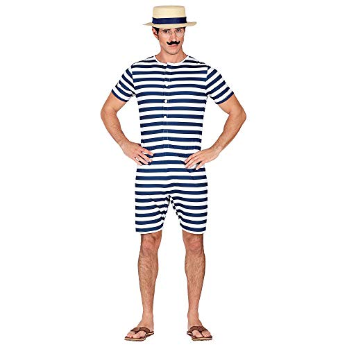 WIDMANN 03255 - Traje de baño para hombre, diseño retro, color azul