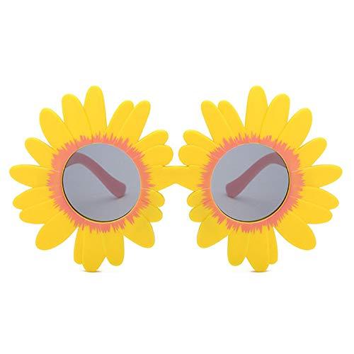 Wang-RX Mode Sonnenblume Runde Nette Kinder Sonnenbrille UV400 Mädchen Schöne Baby Brille Kinder Sicher und Bequem Brillen