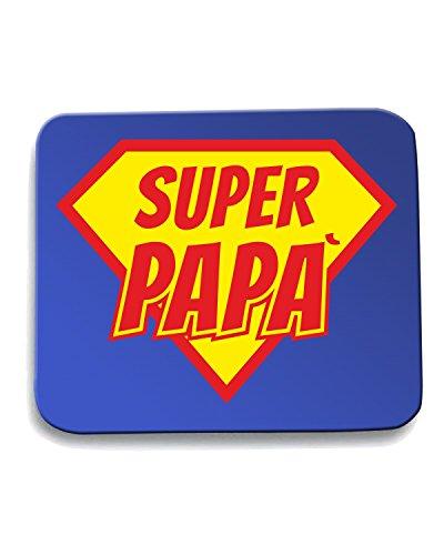 Cotton Island - Tappetino Mouse Pad T1033 super papa fun cool geek, Taglia taglia unica