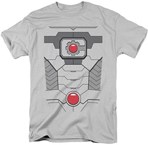 Für Männer Cyborg Kostüm (Jla - Männer Cyborg-Kostüm-T-Shirt, Medium,)
