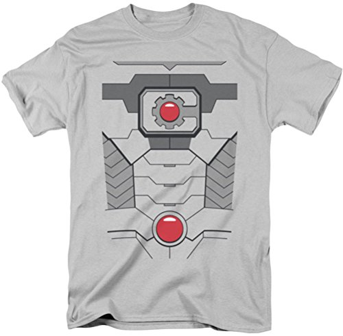 -Kostüm-T-Shirt, Medium, Silver (Cyborg Kostüm Für Männer)