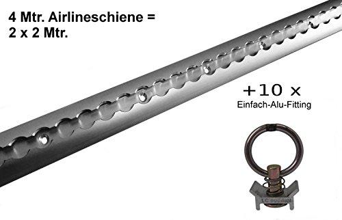 4 x Haken f/ür Airlineschienen Single endbeschlag airlineschienen Zurrschienen Fitting