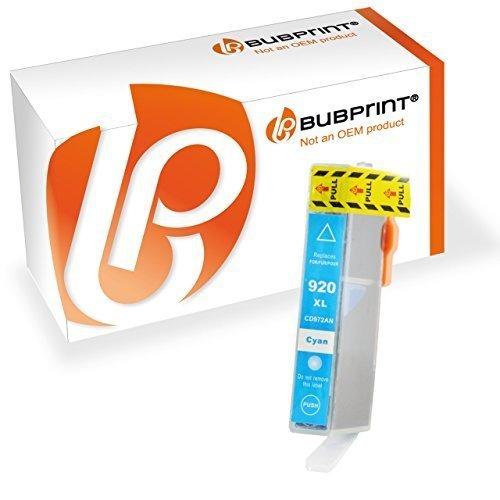 Preisvergleich Produktbild Bubprint Druckerpatrone cyan kompatibel für hp 920xl 920 xl officejet 6500 6000 6500a plus 7000 wireless 7500 a Series Patrone