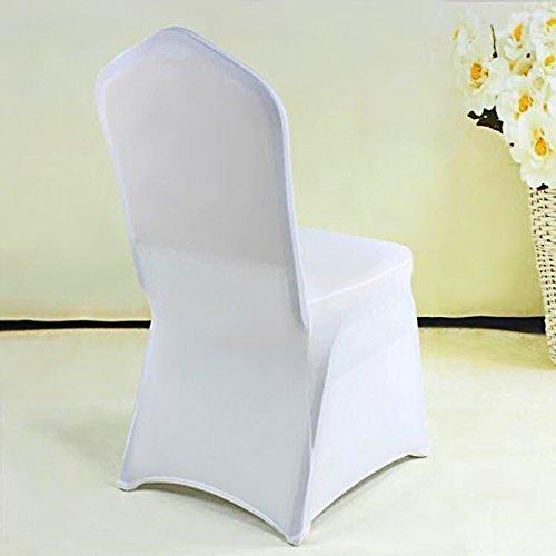 Femor 2/4/20/50 pezzi coprisedia copertura della sedia con schienale protezione sedie, per la sala da pranzo mobili da cerimonia nuziale moderni, hotel, ristorante decor (50 pezzi)
