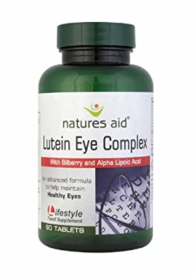 (3 PACK) - Natures Aid - Lutein Complex with Bilberry   90's   3 PACK BUNDLE