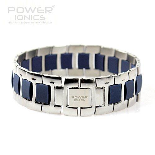 Power Ionics Bracelet Armband Powerarmband PowerIonics Ionenarmband Energie Wristband Magnet Armband 3000 Ions Smart Sports Bracelet Wristband PT060 (blue/silver)