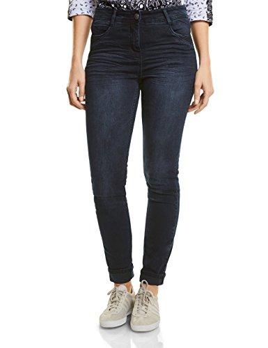 CECIL Damen Slim Slim Jeans Toronto 371092, Blau (Blue/Black Used Wash 10770), W29/L32 (Hose Leg Slim Taille)