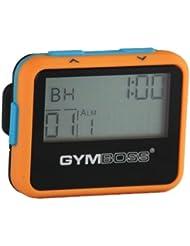 Gymboss Minuteur d'intervalle et chronomètre – COQUE ORANGE / BLEU SOFTCOAT
