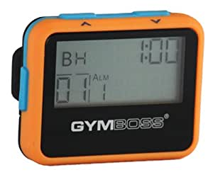 Gymboss Minuteur d'intervalle et chronomètre - COQUE ORANGE / BLEU SOFTCOAT