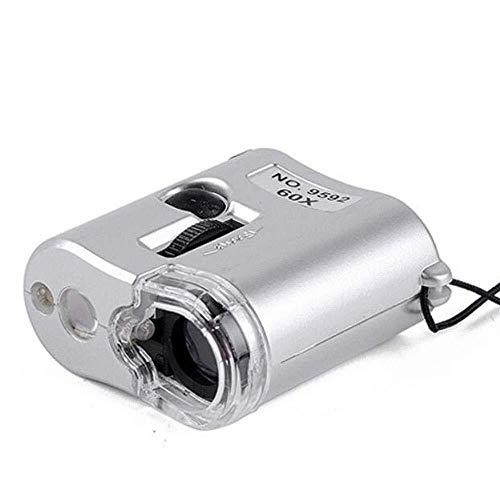 HFFFHA Lupa 60 Veces Microscopio Portable De Mano