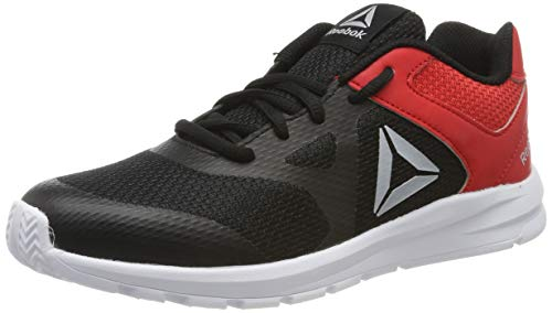 Reebok Rush Runner, Zapatillas de Entrenamiento para Niños, Negro Black/Red/Silver 0, 38 EU
