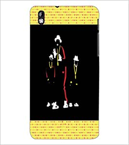 PrintDhaba Dancers D-2668 Back Case Cover for HTC DESIRE 816 (Multi-Coloured)