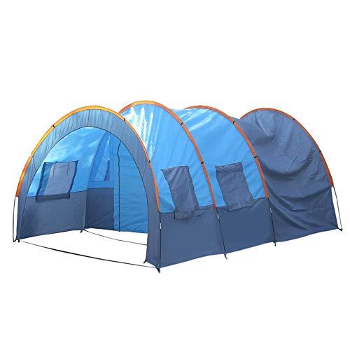 Schnellinstallation 2 Raum 1 Halle 5 Fenster 8-10 Personen Wasserdicht Outdoor Garten Angeln Wandern Camping Zelt -
