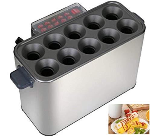 Lovevv Automatische elektrische kommerzielle 10 Roller Egg Tubes Hersteller Eiwurst Hot Dog Roll Maker -