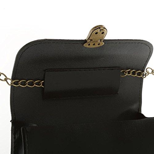 Borsa Da Donna Gazechimp Tracolla Puled Catena Elegante Tracolla - Bianco Nero