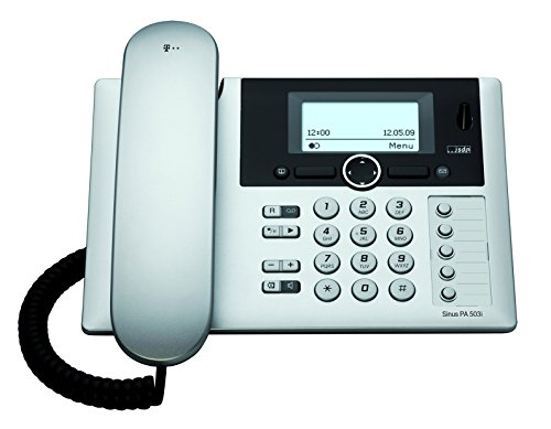 T-COM T-Home T-Sinus PA503i ISDN Tischbasisstation Basis OHNE Mobilteil in silber