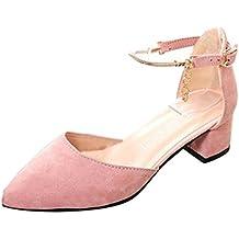 Zapatos Tacon Ancho Mujer
