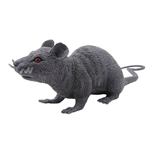 stoff Ratten Maus Modell Figuren Kinder Halloween Tricks Streiche Requisiten Spielzeug, PVC, Grau, Large ()