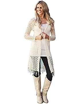 Tongshi Mommy and Me Mujer Loose Hooded Cardigan Top Cover Up Conjunto de Ropa de La Familia De la Blusa