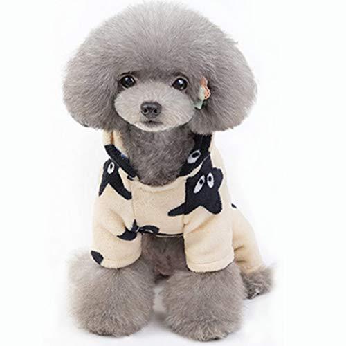 Star 60's Rock Kostüm - Smniao Hunde Sweatshirt für Kleine Mittel Große Winter Hunde Wintermantel Star Print Hundepullover Katzenpullover Sweater S-XXL (M, Khaki)