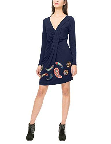 Desigual Vest_Paula, Robe Femme Bleu (NAVY 5000)