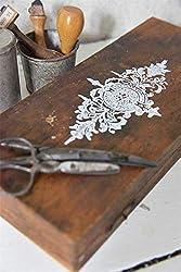 Jeanne d'Arc Living 702015 Vintage Stencil Stempel Oval L8cm Shabby Chic Schablone Wiederverwendbar NEU