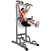 Sportstech Chaise Romaine 7 en 1 PT300 Power Tower Tour de Musculation Multifonctions Barre de Traction, Station de tractions dips abdominaux, accoudoirs, poignées pour Pompe, Fitness, TRX