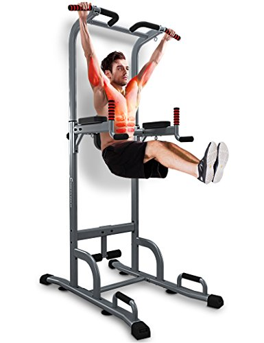 Sportstech Chaise Romaine 7 En 1 PT300 Power Tower Tour De Musculation Multifonctions Barre Traction